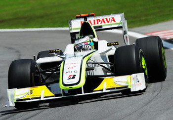 SAO PAULO, BRAZIL - OCTOBER 18:  Jenson Button of Great Britain and Brawn GP drives on his way to winning the F1 World Drivers Championship during the Brazilian Formula One Grand Prix at the Interlagos Circuit on October 18, 2009 in Sao Paulo, Brazil.  (P
