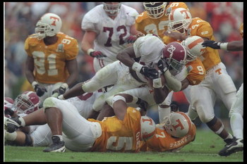 26 Oct 1996: General view of a game between the Tennessee Volunteers and the Alabama Crimson Tide at Neyland Stadium in Knoxville, Tennessee. Tennessee won the game, 20-13.