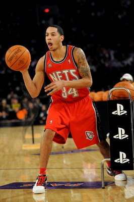 PHOENIX - FEBRUARY 14:  Devin Harris of the New Jersey Nets participates in the Play Station Skills Challenge on All-Star Saturday Night, part of 2009 NBA All-Star Weekend at US Airways Center on February 14, 2009 in Phoenix, Arizona.  NOTE TO USER: User