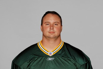 GREEN BAY, WI - 2007:  Jason Spitz of the Green Bay Packers poses for his 2007 NFL headshot at photo day in Green Bay, Wisconsin.  (Photo by Getty Images)