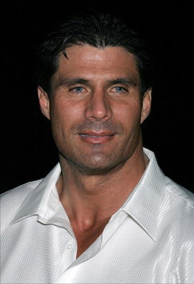 WEST HOLLYWOOD, CA - JANUARY 26:  Former Major League Baseball player Jose Canseco poses at the launch party for Escada's newest scent, 'Pacific Paradise', at the Lobby on January 26, 2006 in West Hollywood, California. (Photo by David Livingston/Getty Im