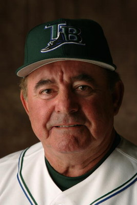 ST.PETERSBURG, FL - MARCH 1:  Lee Elia #4 of the Tampa Bay Devil Rays poses for a portrait during Devil Rays Photo Day at the Raymond A. Naimoli Baseball Complex on March 1, 2005 in St. Petersburg , Fl. (Photo by Andy Lyons /Getty Images)