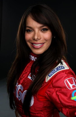 HOMESTEAD, FL - FEBRUARY 26:  Milka Duno driver of the CITGO Dryer & Reinbold Dallara Honda poses for a portrait during Spring Testing for the IRL IndyCar Series on February 26, 2008 at Homestead Miami Speedway in Homestead, Florida.  (Photo by Jonathan F