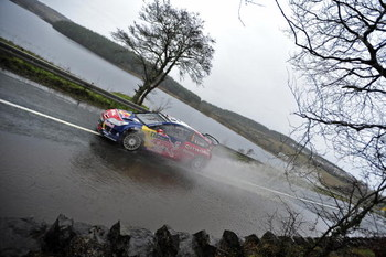 SLIGO, IRELAND : JANUARY 30: Sebastien Loeb and Daniel Elena of France and Monaco compete in their  Citroen Total WRT, Citroen C4 during leg 1 of the WRC, Rally of Ireland 2009 on Friday January 30, 2009 in Sligo, Ireland. (Photo By: Reporter Images/Getty