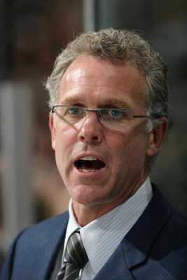 VANCOUVER, CANADA - OCTOBER 16:  Head Coach Craig MacTavish of the Edmonton Oilers looks on from the bench area during the game against the Vancouver Canucks at General Motors Place on October 16, 2006 in Vancouver, British Columbia, Canada. The Canucks d