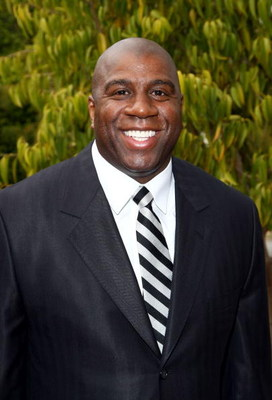 LOS ANGELES, CA - MAY 06:  Former NBA player Earvin 'Magic' Johnson poses for a photo before the USA TODAY Hollywood Hero honors him at the Beverly Hills Hotel on May 6, 2008 in Los Angeles, California.  (Photo by Alberto E. Rodriguez/Getty Images for USA