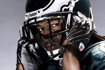 PHILADELPHIA - APRIL 30: Philadelphia Eagles player Asante Samuel poses for portraits April 30,2008 at the NovaCare Training Facility in Philadelphia, Pennsylvania. (Photo by Chris McGrath/Getty Images)