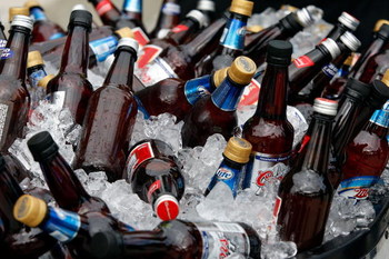 TAMPA, FL - FEBRUARY 01:  A detailed picture of bottles of beer before Super Bowl XLIII between the Arizona Cardinals and the Pittsburgh Steelers on February 1, 2009 at Raymond James Stadium in Tampa, Florida.  (Photo by Jamie Squire/Getty Images)