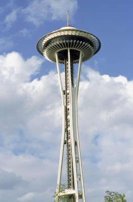 SEATTLE - MAY 5:  A general view of the Space Needle in Seattle, Wahington during the MLB game between Blue Jays and the Mariners at Safeco Field on May 5, 2001.  (Photo by Otto Greule Jr /Getty Images)