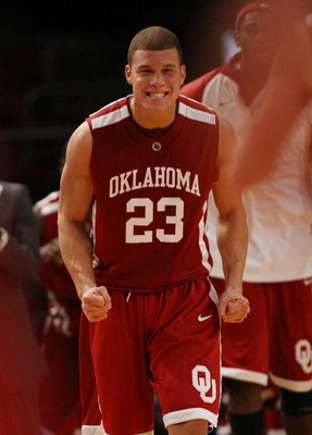 NEW YORK - NOVEMBER 28:  Blake Griffin #23 of the Oklahoma Sooners celebrates the win  against the Purdue Boilermakers during the Championship game of the Pre-Season NIT tournament on November 28, 2008 at Madison Square Garden in New York City.  (Photo by