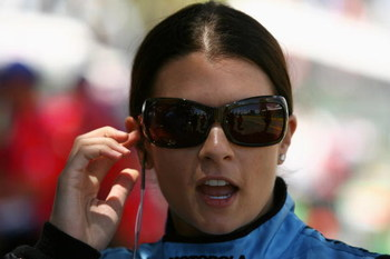 GOLD COAST, AUSTRALIA - OCTOBER 24:  Danica Patrick driver of the #7 Motorola Andretti Green Racing Dallara Honda prepares for practice for the IRL Indy Car Series Nikon Indy 300 on October 24, 2008 on the Gold Coast, Australia.  (Photo by Robert Cianflon