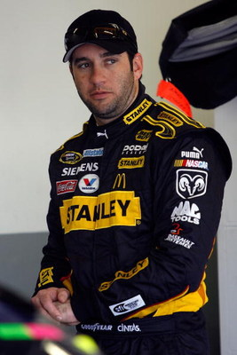 DAYTONA BEACH, FL - FEBRUARY 14:  Elliott Sadler, driver of the #19 Stanley Tools Dodge prepares to drive during practice for the NASCAR Sprint Cup Series Daytona 500 at Daytona International Speedway on February 14, 2009 in Daytona Beach, Florida.  (Phot
