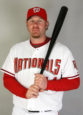 VIERA, FL - FEBRUARY 21:  Adam Dunn #44 of the Washington Nationals poses during photo day at Roger Dean Stadium on February 21, 2009 in Viera, Florida.  (Photo by Doug Benc/Getty Images)