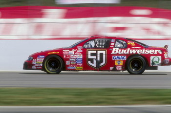 12 Jul 1998:  Driver Ricky Craven #50 in action during the Jiffy Lube 300 at the New Hampshire International Speedway in Loudon, New Hampshire. Mandatory Credit: David Taylor  /Allsport
