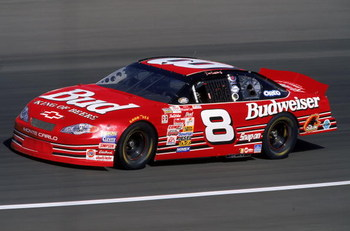 30 Apr 2000: Dale Earnhardt Jr. #8 is in action during the NAPA Auto Parts 500, Part of the NASCAR Winston Cup Series, at the California Speedway in Fontana, California. Mandatory Credit: Jon Ferrey  /Allsport