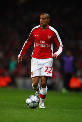 LONDON - FEBRUARY 24: Gael Clichy of Arsenal during the UEFA Champions League First knockout round, First Leg match between Arsenal and A.S. Roma at Emirates Stadium on February 24, 2009 in London, England.  (Photo by Jamie McDonald/Getty Images)