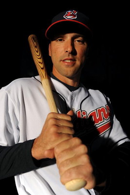 GOODYEAR, AZ - FEBRUARY 21:  Mark DeRosa of the Cleveland Indians poses during photo day at the Indians spring training complex on February 21, 2009 in Goodyear, Arizona.  (Photo by Ronald Martinez/Getty Images)