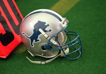 5 Nov 2000: A view of the Detroit Lions football helmet taken on the field during the game against the  Miami Dolphins at the Silverdome in Pontiac, Michigan.  The Dolphins defeated the Lions 23-18.Mandatory Credit: Tom Pidgeon  /Allsport