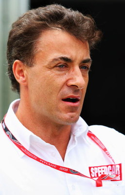 KUALA LUMPUR, MALAYSIA - MARCH 20:  Former driver Jean Alesi is seen in the paddock during previews for the Malaysian Formula One Grand Prix at the Sepang Circuit on March 20, 2008 in Kuala Lumpur, Malaysia.  (Photo by Mark Thompson/Getty Images)
