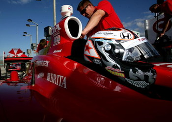 HOMESTEAD, FL - FEBRUARY 25: Scott Dixon of New Zealand, driver of the #9 Target Chip Ganassi Racing Dallara Honda, is seen during the IRL IndyCar Series Spring Testing at the Homestead-Miami Speedway February 25, 2009 in Homestead, Florida.  (Photo by Da
