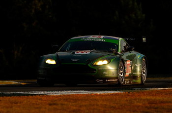 BRASELTON, GA - OCTOBER 04:  The #007 Drayson-Barwell Aston Martin Vantage driven by Paul Drayson, Jonny Cocker and Darren Turner during the American Le Mans Series Petit Le Mans at Road Atlanta on October 4, 2008 in Braselton, Georgia.  (Photo by Streete