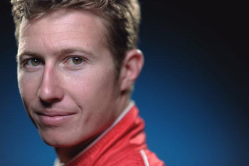 HOMESTEAD, FL - FEBRUARY 24:  Ryan Briscoe driver of the #6 Team Penske Dallara Honda poses for a portrait during the IRL IndyCar Series Spring Testing on February 24, 2009 at the Homestead-Miami Speedway in Homestead, Florida. (Photo by Robert Laberge/Ge