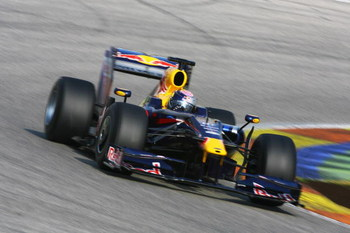 VALENCIA, SPAIN - FEBRUARY 26:  Sebastian Vettel of Germany and Red Bull Racing in action during Formula One winter testing at the Ricardo Tormo circuit on February 26, 2009 in Valencia, Spain.  (Photo by Paul Gilham/Getty Images)