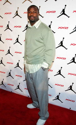 LAS VEGAS - FEBRUARY 16:  Bart Scott of the Baltimore Ravens arrives to the celebration for Jordan Brand's launch of the Air Jordan XX2 shoe at the MGM Grand Pavillion Tent inside the MGM Grand Hotel/Casino on February 16, 2007 in Las Vegas, Nevada.  (Pho