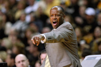 COLUMBIA, MISSOURI - FEBRUARY 14:  Head coach Mike Anderson of the Missouri Tigers reacts against the Nebraska Huskers during the game on February 14, 2009 at Mizzou Arena in Columbia, Missouri. (Photo by: Jamie Squire/Getty Images)