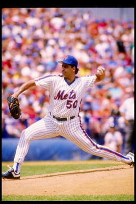 1989:  Pitcher Sid Fernandez of the New York Mets in action during a game at Shea Stadium in Flushing, New York. Mandatory Credit: Rick Stewart  /Allsport