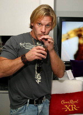 WEST HOLLYWOOD, CA - JULY 11:  Actor Chris Jericho poses at the Crown Royal suite at the ESPY Style Studio at the Mondrian Hotel on July 11, 2006 in West Hollywood, California.  (Photo by Chad Buchanan/Getty Images for Crown Royal)