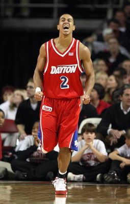 LOUISVILLE - DECEMBER 8: Brian Roberts #2 of the Dayton Flyers reacts during the game against the Louisville Cardinals on December 8, 2007 at Freedom Hall in Louisville, Kentucky. (Photo by: Andy Lyons/Getty Images)