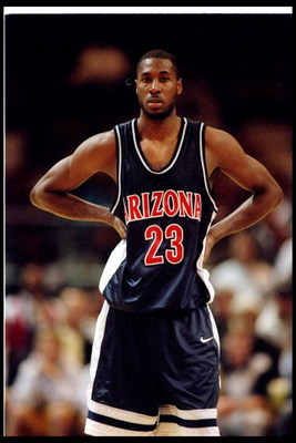 4 Jan 1996:  Michael Dickerson of Arizona University looks on during the Wildcats 99-75 loss to CAL at the Oakland Coliseum in Oakland, California. Mandatory Credit: J.D. Cuban  /Allsport