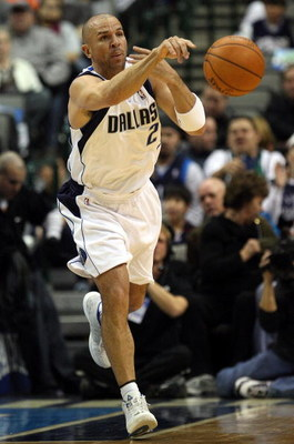DALLAS - JANUARY 28: Jason Kidd #2 of the Dallas Mavericks during play against the Golden State Warriors on January 28, 2008 at American Airlines Center in Dallas, Texas.  NOTE TO USER: User expressly acknowledges and agrees that, by downloading and/or us