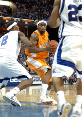 February 23 2008: Memphis Tennessee: Tyler Smith during University of Tennessee's 66 - 62 win over the Memphis Tigers at the FedEx Forum in Memphis, Tennessee.