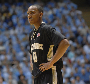 Feb 24, 2008 - Chapel Hill, North Carolina, USA - NCAA College Basketball: Wake Forest Demon Deacons (0) JEFF TEAGUE as the University of North Carolina Tarheels defeated the Wake Forest Demon Deacons with final score of 89-73 as they played the Dean Smit