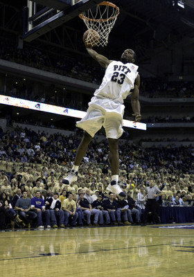 21 November 2008: Pittsburgh Panthers forward, Sam Young (23), goes up for a dunk in the first half against the University of Akron Zips in their Legends Classic game at Petersen Events Center in Pittsburgh, PA. The Panthers went on to win 86-67.