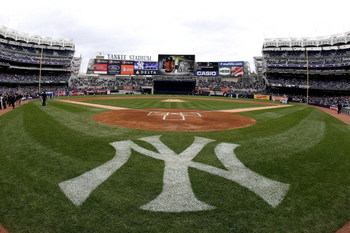 NEW YORK - APRIL 04: A general view prior to the game between the New York Yankees and the Chicago Cubs during their game on April 4, 2009 at Yankee Stadium in the Bronx borough of New York City.  (Photo by Nick Laham/Getty Images)