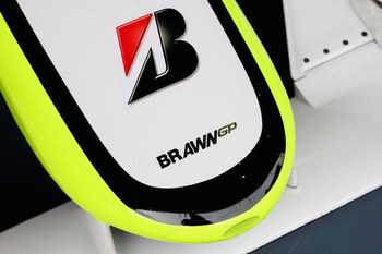 BARCELONA, SPAIN - MARCH 11:   The front nose of the ex honda car re-named Brawn GP in action during formula one testing at the Circuit de Catalunya on March 11, 2009 in Barcelona, Spain.  (Photo by Mark Thompson/Getty Images)