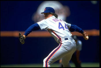 28 Jul 1991: NEW YORK METS PITCHER TIM BURKE WINDS UP TO PITCH DURING THE METS VERSUS SAN DIEGO PADRES GAME AT JACK MURPHY STADIUM IN SAN DIEGO, CALIFORNIA.