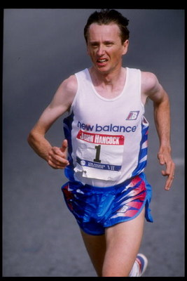 1 Mar 1992:  John Treacy of Ireland runs in the Los Angeles Marathon in Los Angeles, California.  Treacy won the race. Mandatory Credit: Mike Powell  /Allsport