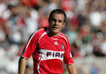 BRIDGEVIEW, IL - OCTOBER 21:  Cuauhtemoc Blanco #10 of the Chicago Fire looks on during their MLS match against the Los Angeles Galaxy on October 21, 2007 at Toyota Park in Bridgeview, Illinois.  The Fire defeated the Galaxy 1-0. (Photo by Jonathan Daniel