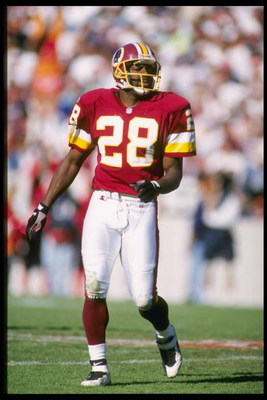 8 Dec 1996: Defensive back Darrell Green of the Washington Redskins runs across the field during the Redskins 24-10 loss to the Tampa Bay Buccaneers at Houlihan''s Stadium in Tampa, Florida.