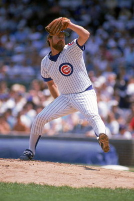 CHICAGO - 1989:  Rick Sutcliffe #40 of the Chicago Cubs winds back to pitch during a game in the 1989 season at Wrigley Field in Chicago, Illinois . ( Photo by: Jonathan Daniel/Getty Images )