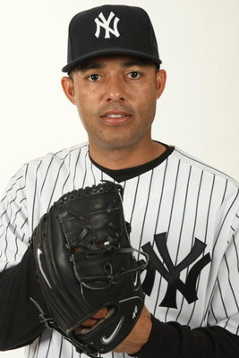 TAMPA, FL - FEBRUARY 19:  Mariano Rivera #42 of the New York Yankees poses during Photo Day on February 19, 2009 at Legends Field in Tampa, Florida. (Photo by Nick Laham/Getty Images)