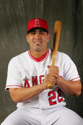 TEMPE, AZ - FEBRUARY 22:  Infielder Kendry Morales #22 of the Los Angeles Angels of Anaheim poses during Photo Day on February 22, 2007 at Tempe Diablo Stadium in Tempe Arizona.  (Photo by Stephen Dunn/Getty Images)