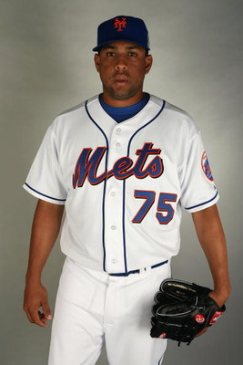PORT SAINT LUCIE, FL - FEBRUARY 23:  Francisco Rodriguez #75 of the New York Mets poses during photo day at Tradition Field on February 23, 2009 in Port Saint Lucie, Florida.  (Photo by Doug Benc/Getty Images)