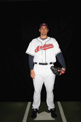 GOODYEAR, AZ - FEBRUARY 21:  Carl Pavano of the Cleveland Indians poses during photo day at the Indians spring training complex on February 21, 2009 in Goodyear, Arizona.  (Photo by Ronald Martinez/Getty Images)