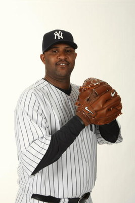 TAMPA, FL - FEBRUARY 19:  CC Sabathia #52 of the New York Yankees poses during Photo Day on February 19, 2009 at Legends Field in Tampa, Florida. (Photo by Nick Laham/Getty Images)