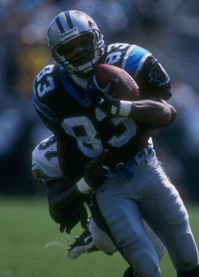 15 Dec 1996:  Receiver Mark Carrier of the Carolina Panthers carries the football after catching a pass during the Panthers 24-14 loss to the Jacksonville Jaguars at Jacksonville Stadium in Jacksonville, Florida. Mandatory Credit: Scott Halleran  /Allspor